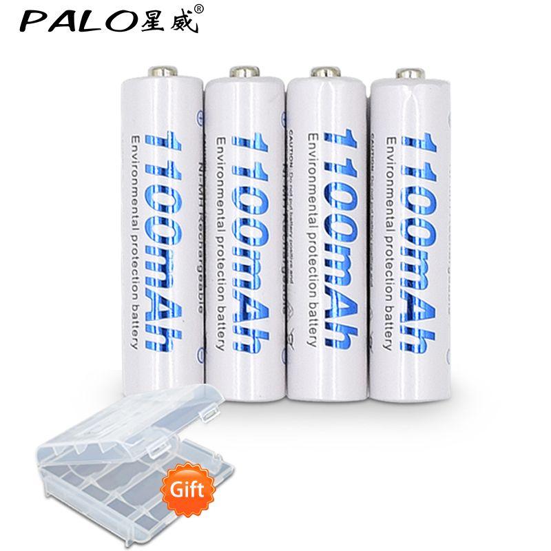 4 pcs 1100 mAh 1.2 v AAA batterie rechargeable pour LED lumière Jouet placement batterie pour appareil photo MP3 mp4 microphone