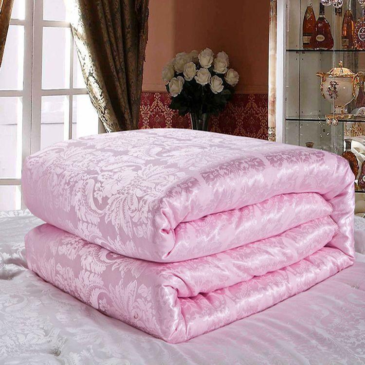 Весна/Осень шелковые одеяла, две королевы king size soft natural silk blankets, розовый белый желтый нефрит цвета постельные принадлежности Одеяло Наполнит...