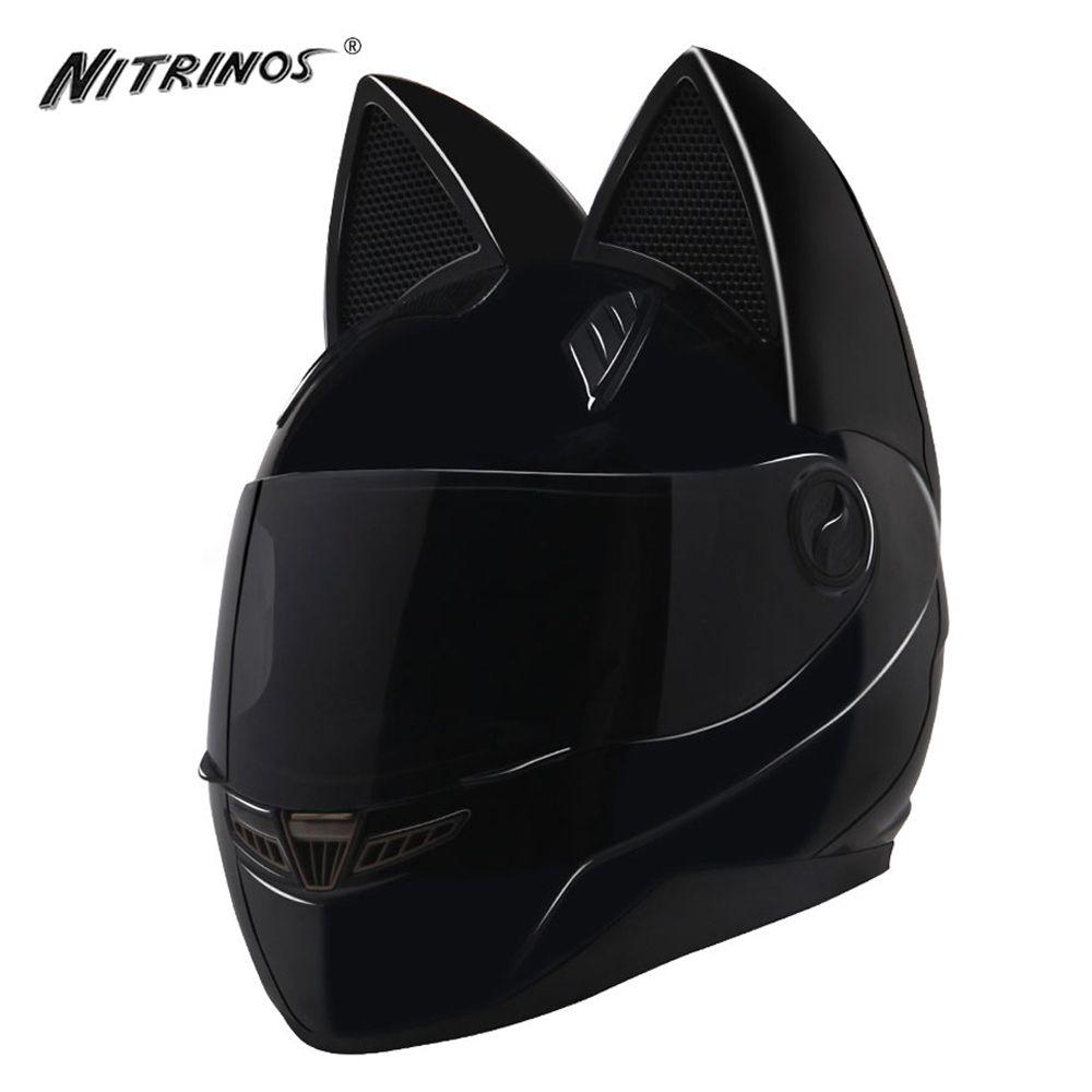 NITRINOS Motorcycle Helmet Women Motocross Full Face Helmet Moto Flip Up Visor Capacetes De Motociclista Novelty Casque Moto