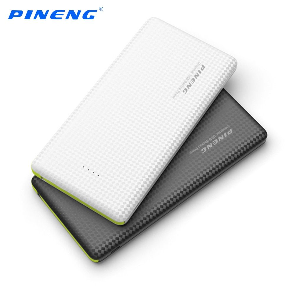 Original PINENG 10000mAh Portable Fast Charging Battery Mobile Power Bank Dual USB Output Li-Polymer Charger for Iphone 5 5s 6 7
