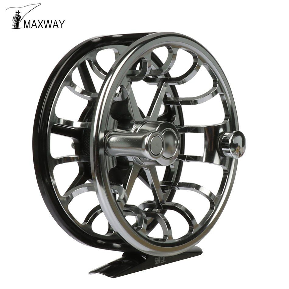 Maxway Elite Full Metal Anti-corrosion Fly Fishing Reel 5/6 CNC Mechine Cut High Density Aluminum Alloy Trout Fishing Reel