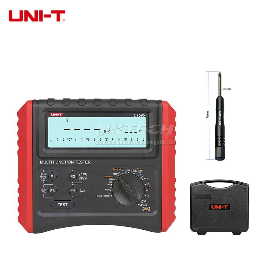 UNI-T UT595 Multifunktions RCD Loop Tester Erde Boden Linie Schleife Impedanz Tester Elektrische Sicherheit Isolierung Widerstand Meter