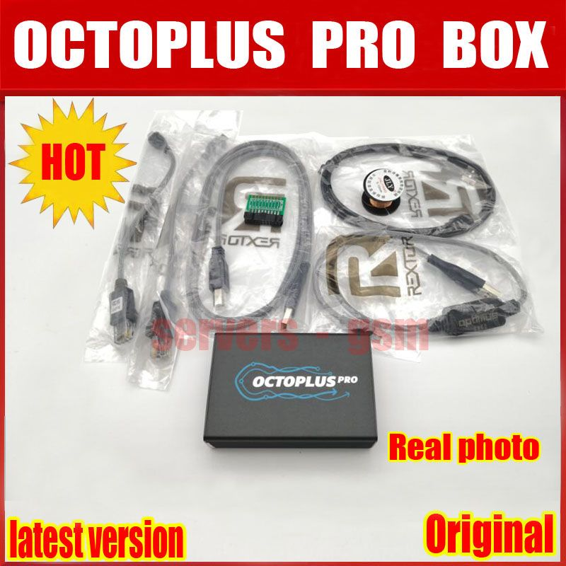 2018 New Version Original Octoplus Pro Box + 5 Cable Set for Samsung for LG +eMMC/JTAG Activated