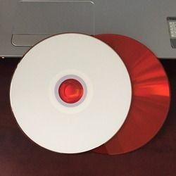 Wholesale 10 discs 700MB Car Blank Printable Red CD-R Disc