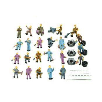 1:87 Model People HO scale train layout architectural model workers miniature railway workers
