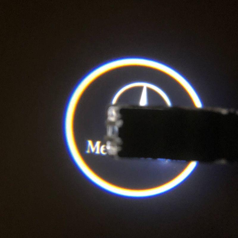 2x LED Car Door Courtesy Laser Logo Projector Light Welcome Light For Mercedes Benz W203 C Class 2001-2007 SLK CLK SLR W209 W240