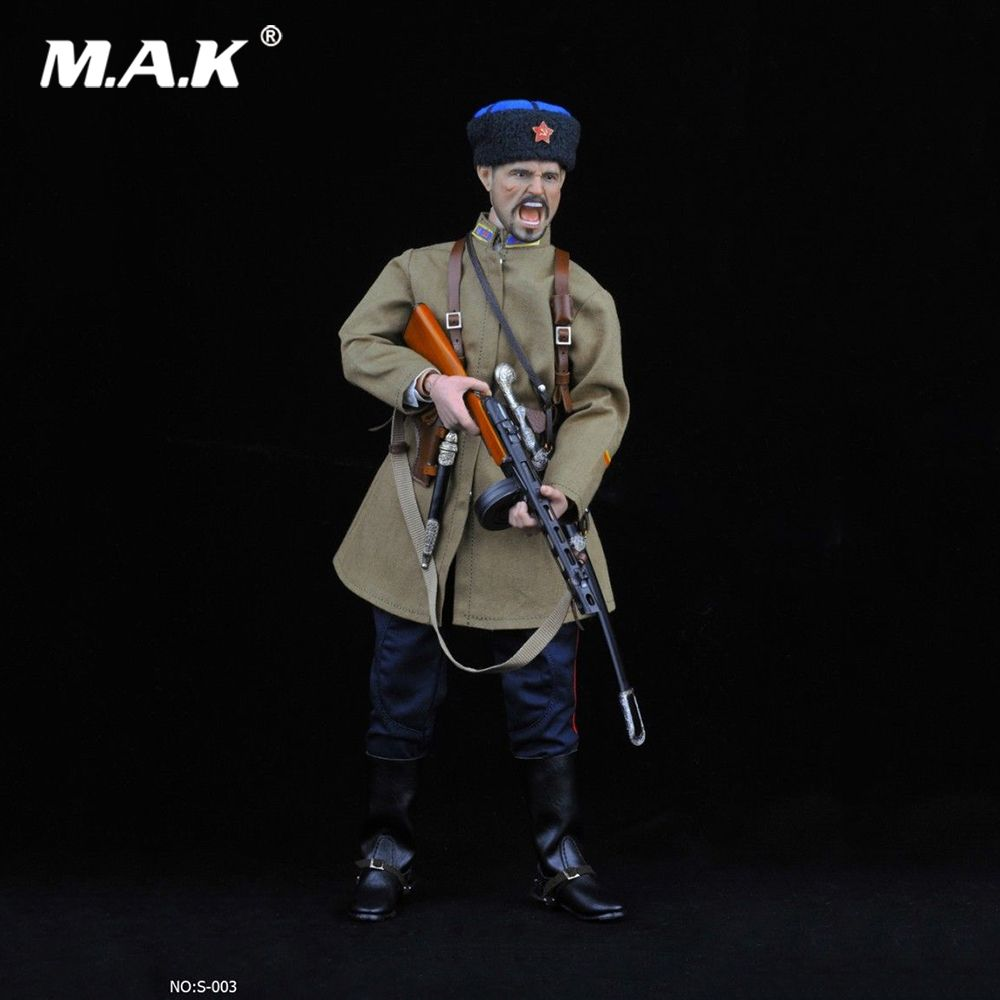 No:S003 1/6 Scale Figure Accessory WWII Soviet Cossack Cavalry Uniform Clothing Weapon Set Model for 12'' Action Figure Body
