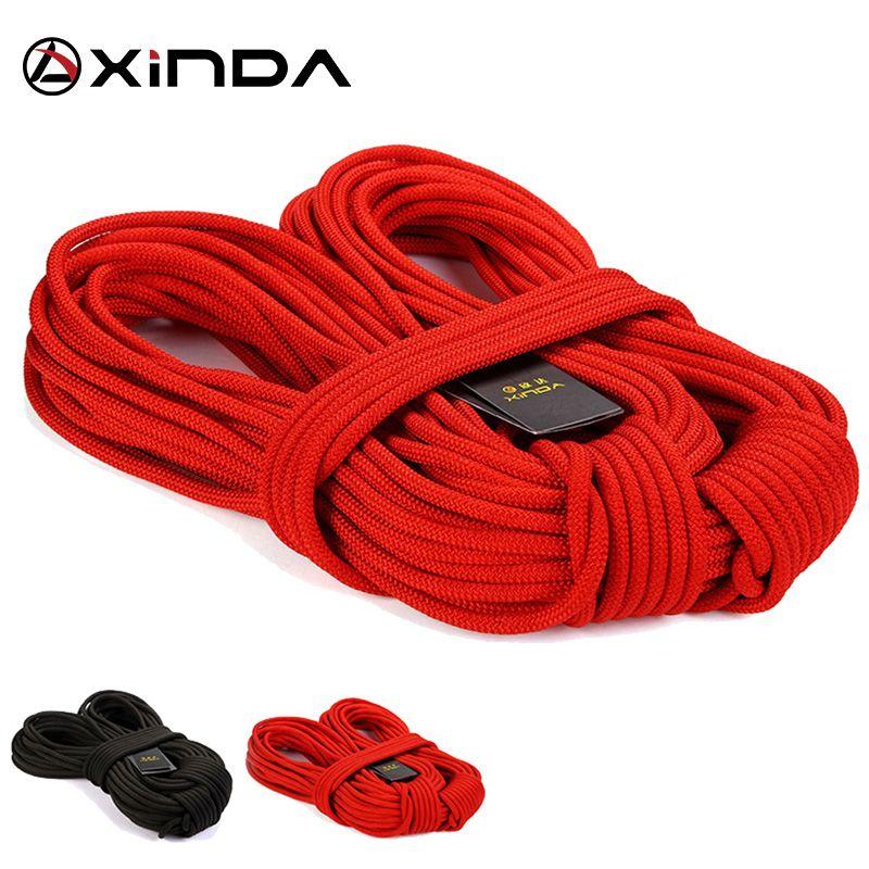 XIND professionnel escalade corde randonnée en plein air Corda 8mm diamètre haute résistance statique corde de sécurité incendie sauvetage Parachute