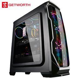 GETWORTH R36 Desktop Computer Desk I5 8600K Intel 8th Generation CPU ASUS 1060 6G Graphics Card 100-240V Power Supply Win10 Home