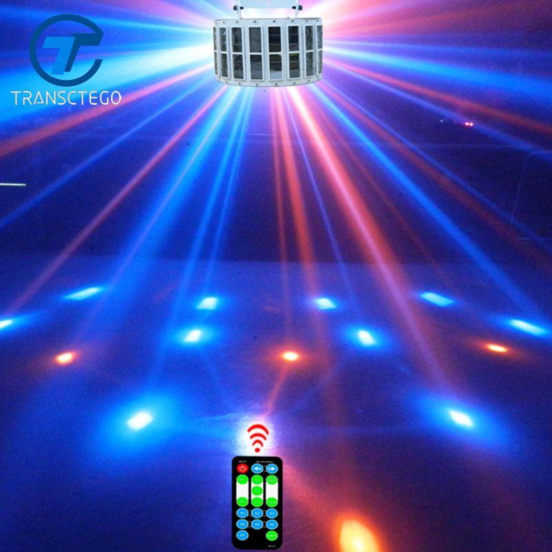 Transcendance Led lampe de scène lumière Laser DMX 24 W 14 Modes 8 couleurs lumières Disco DJ Bar lampe contrôle sonore musique scène lampes