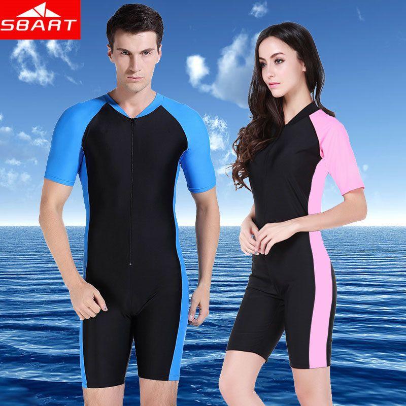 SBART Anti-UV Lycra à manches courtes Triathlon combinaison hommes femmes surf combinaison humide pour la natation Sucba plongée peau maillot de bain équipement