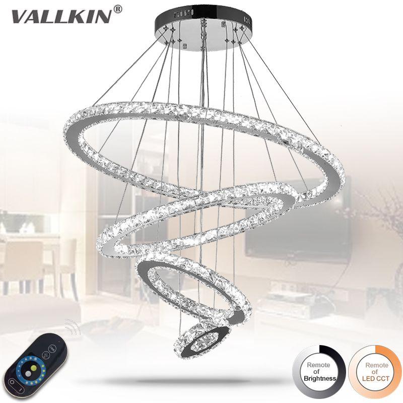 LED Кристалл кольцо подвесной светильник Современные светодиодные круг висит лампа светильник в наличии украшение дома затемнения
