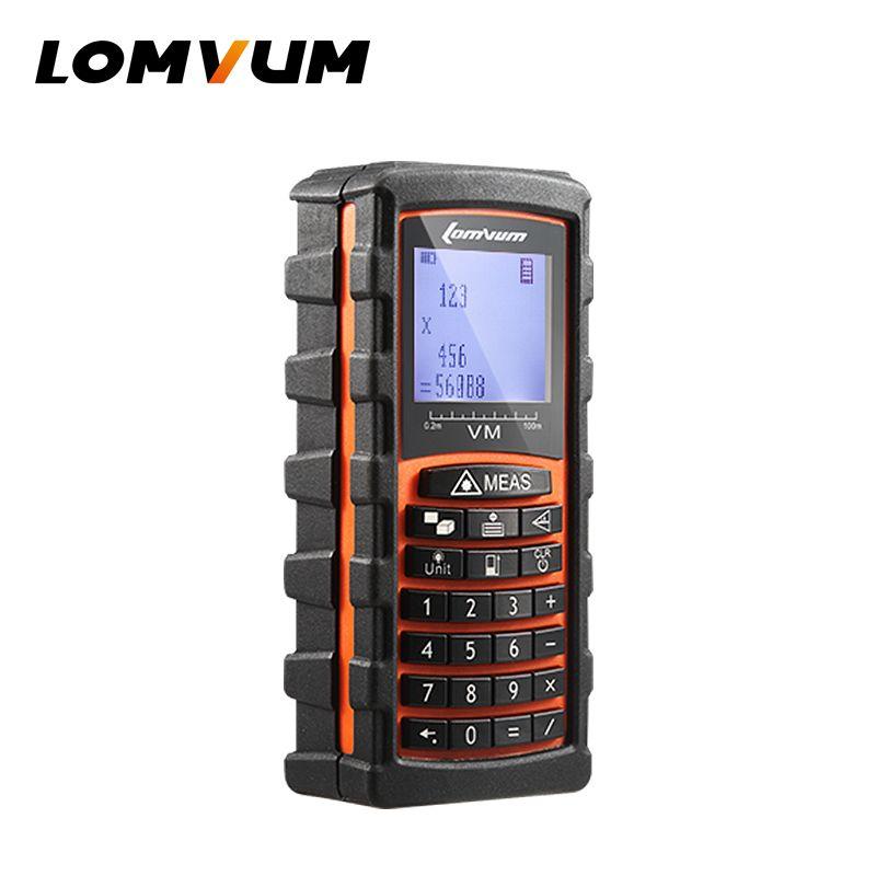 LOMVUM 40 m/60 m/80 m/120 m trena Laser Télémètre Numérique Mètre de Distance électronique capteur clavier calcul ferramentas