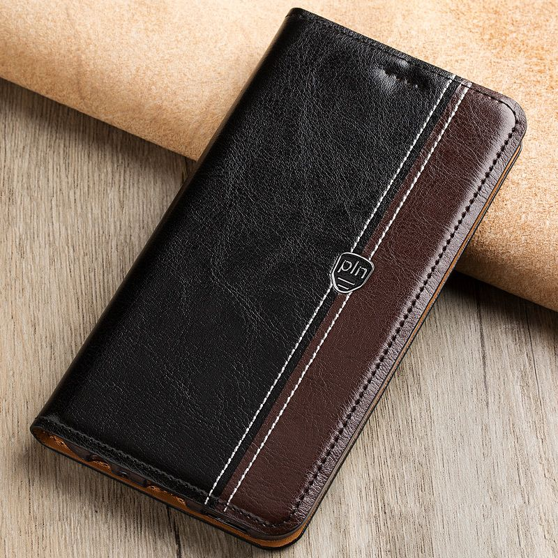 Fashion Stitching Color Cover Case For Lenovo Lemon K3 Note K50 A7000 Case Flip Stand Magnetic Genuine Leather Phone Cover Bag