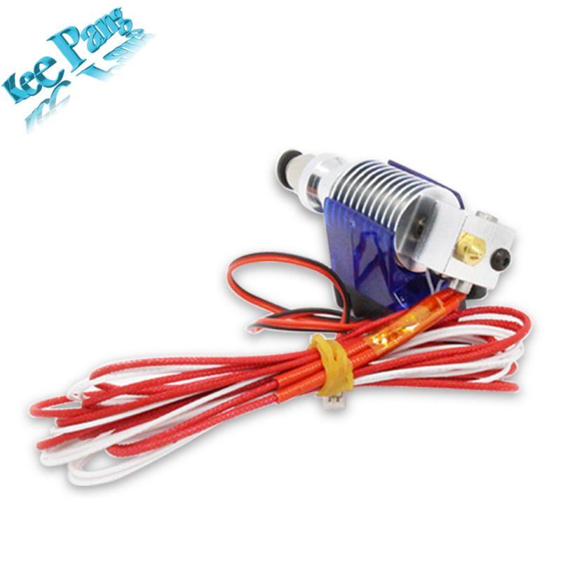 J-tête Hotend Extrudeuse Kit Pour V6 3D Imprimantes Partie Support De Ventilateur De Refroidissement Bloc Thermistances Buse 0.4 1.75mm Filament Bowden Pièces