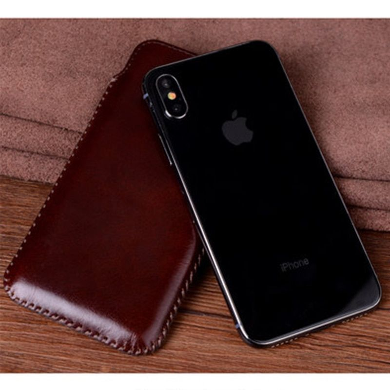 Luxury Handmade Phone Case for iPhone x for iPhone 7 7plus 4.7/5.5/5.8 Genuine Leather Cover Pouch Sleeve for iPhone 8 8plus 8p