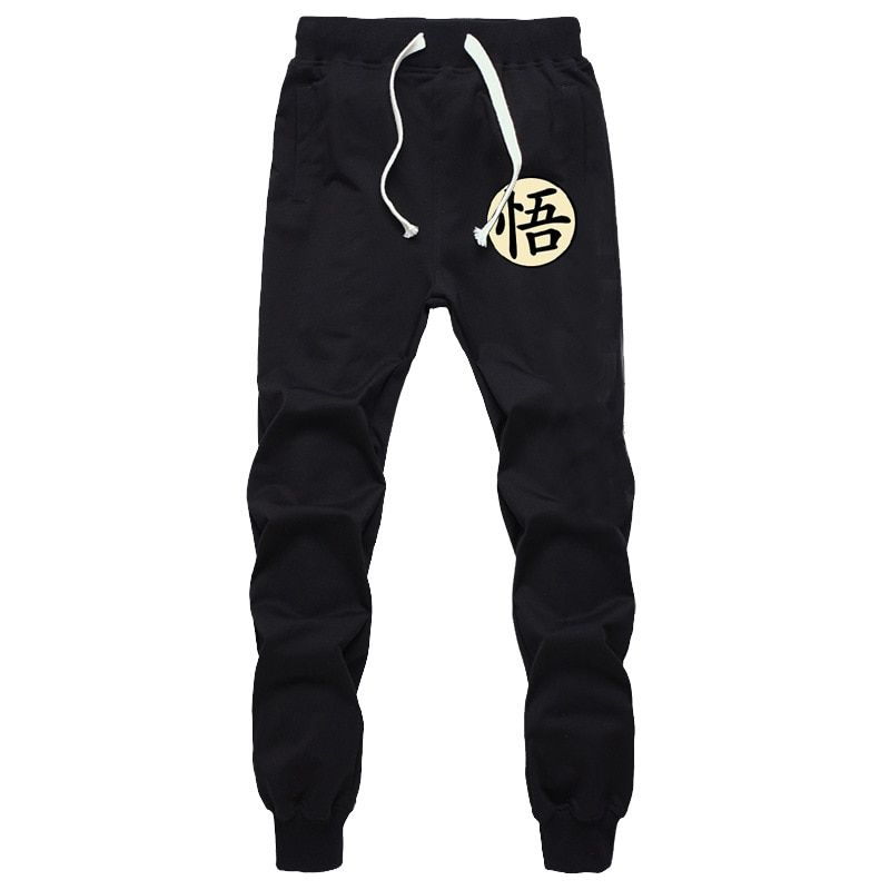 Casual Funny Print Dragon Ball Goku Mens Pants Cotton <font><b>Autumn</b></font> Winter Gray Men Joggers Sweatpants Plus Size Black Trouser pantalon