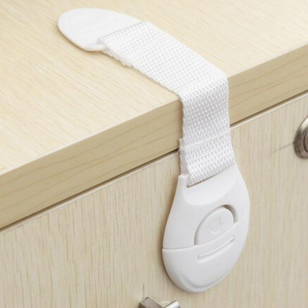 10 Pcs/Lot Baby Safety Locks Plastic Drawer Door Cabinet Cupboard Safety Locks Protection from Children Baby Safety Care Product