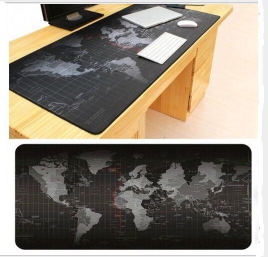 Super grand 1000x500mm/900x40mm/700x300mm/600x300mm carte du monde en caoutchouc tapis de souris ordinateur jeu tablette tapis de souris avec verrouillage des bords