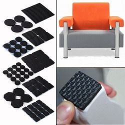 Дешевые + скидка 49% фурнитура для столов и стульев этаж Anti Scratch защитников колодки скольжения противоскольжения самоклеющиеся EQA697