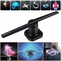 Универсальный светодио дный светодиодный голографический проектор портативный голограмма плеер 3D голографический экран вентилятор уника...