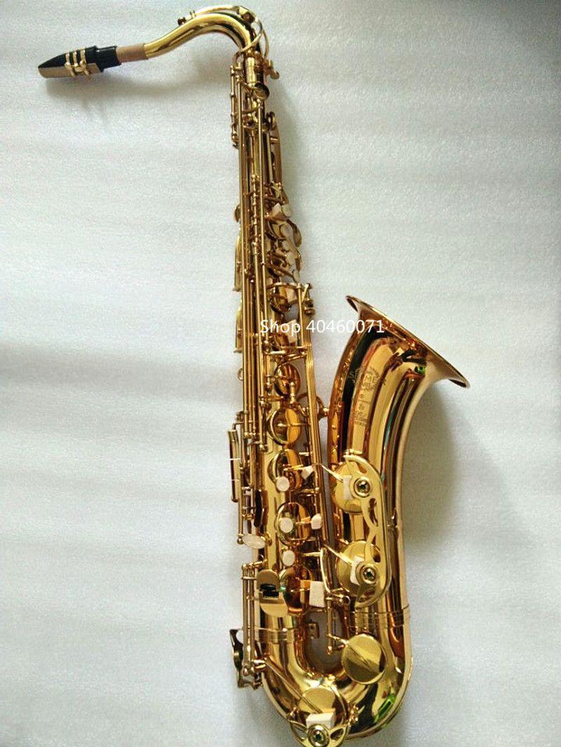 Saxophon tenor Bb Frankreich SELMER STS-802 modell Sax die goldene tenor Saxopfone Spezialisiert musical instruments Geschenk weg, versand
