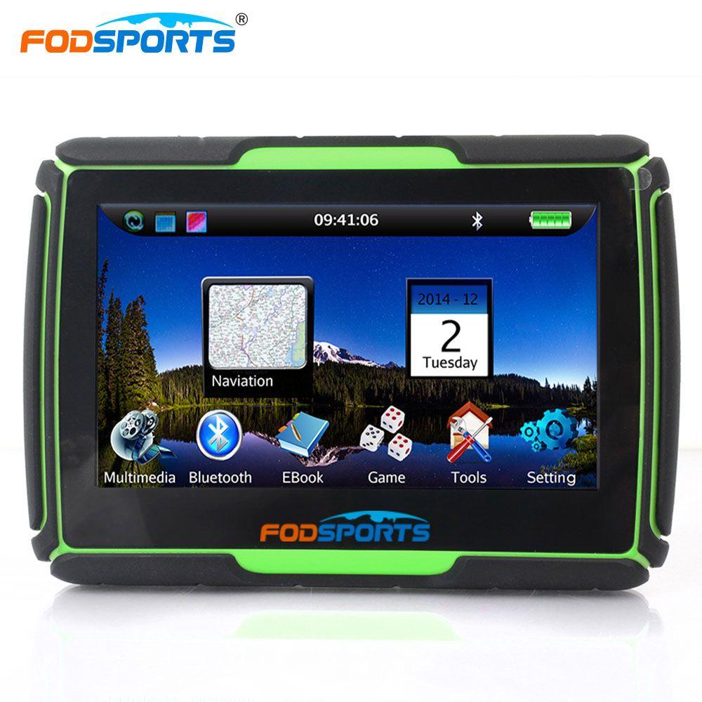 Fodsports 4.3 дюймов 256 МБ 8 ГБ GPS приборы для мотоциклов навигации Оконные рамы CE6.0 IPX7 Водонепроницаемый автомобиля Bluetooth GPS навигатор с кронштейно...