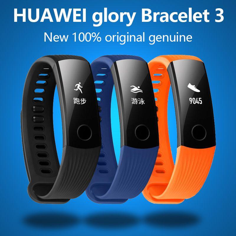 New original huawei Honor Bracelet 3 Smart Bluetooth motion, fréquence cardiaque, surveillance du sommeil, étanche Montre-Bracelet Pour xiaomi 2