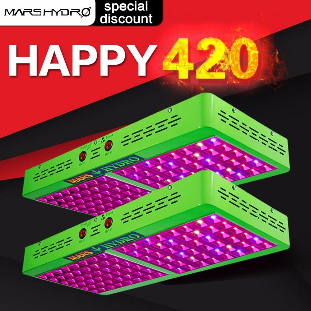 2pcs Mars Hydro Reflector 480W LED Grow Light lamp Full Spectrum Veg Flower Hydroponic Plant stock