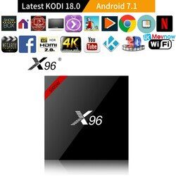 X96 Android 7.1 últimas Kodi 18.0 versión TV caja amlogic S905W 1g/2G 8g/16G Bluetooth apoyo 2.4 GHz WiFi HD 4 K Media Player