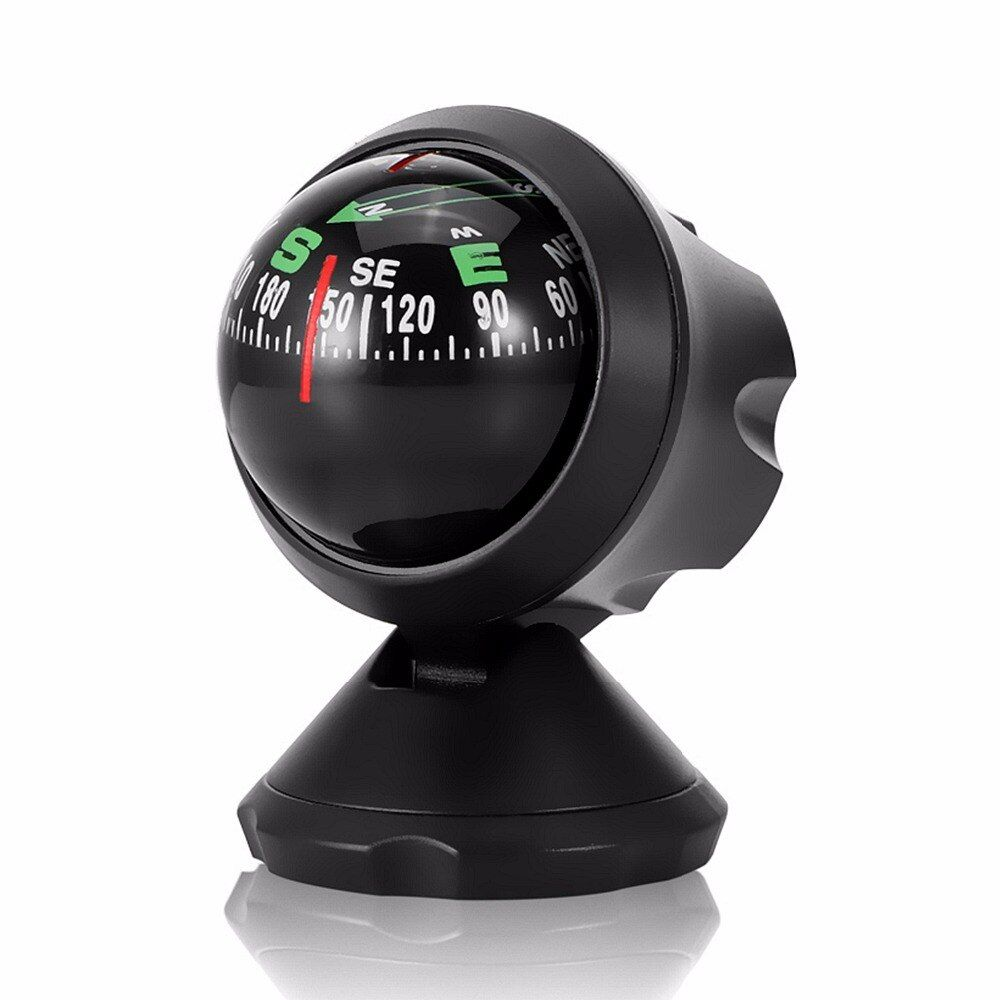 Car Compass Ball ,Vehicle Interior Ornaments Outdoor Direction Guidance Tool Adhesive Compass