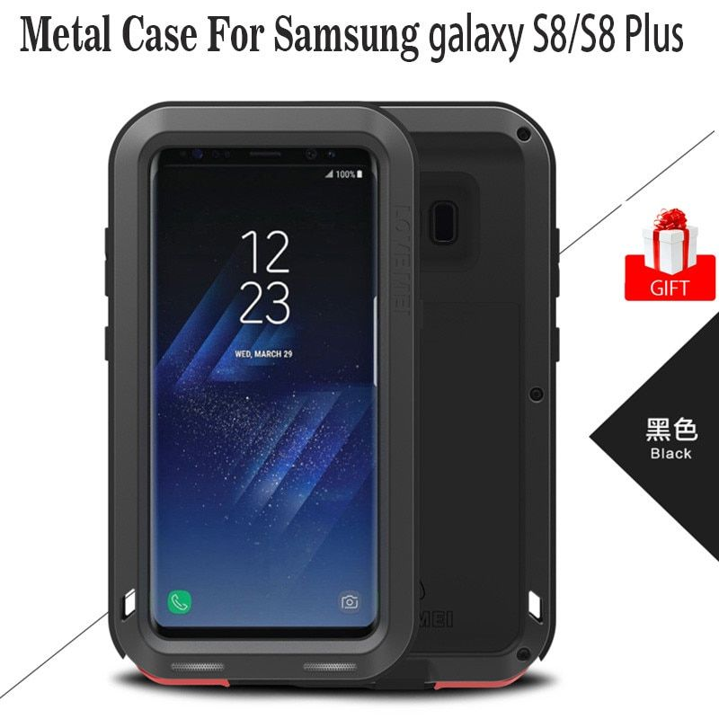 note 8 Anti-fall Case Original LOVE MEI Shockproof Aluminum Armor Case Coque For Samsung Galaxy S8 S8 Plus