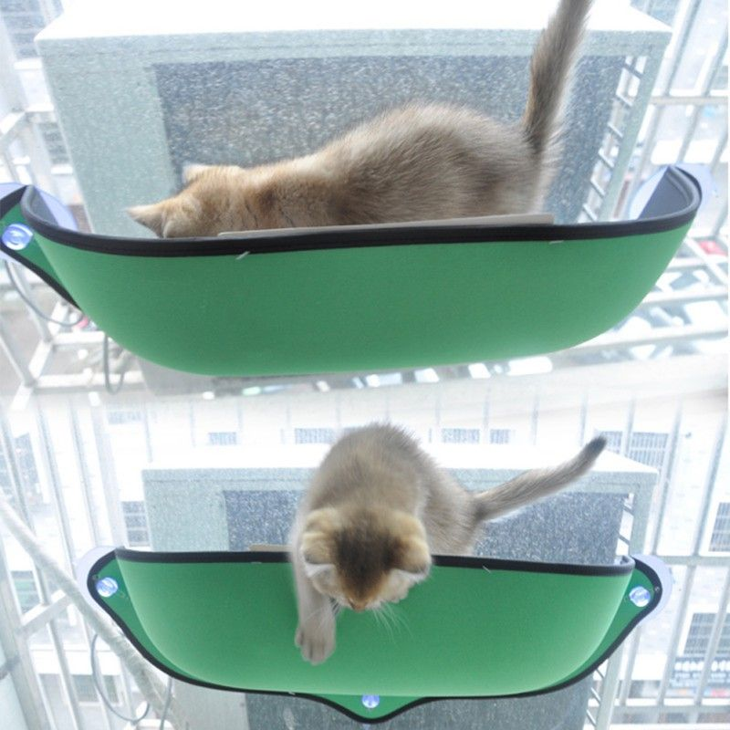 Cat Window Mounted Cat Removable Cat Window Bed Ultimate Sunbathing Hammock Bed Cat Lounger Perch Cushion Hanging Shelf Seat