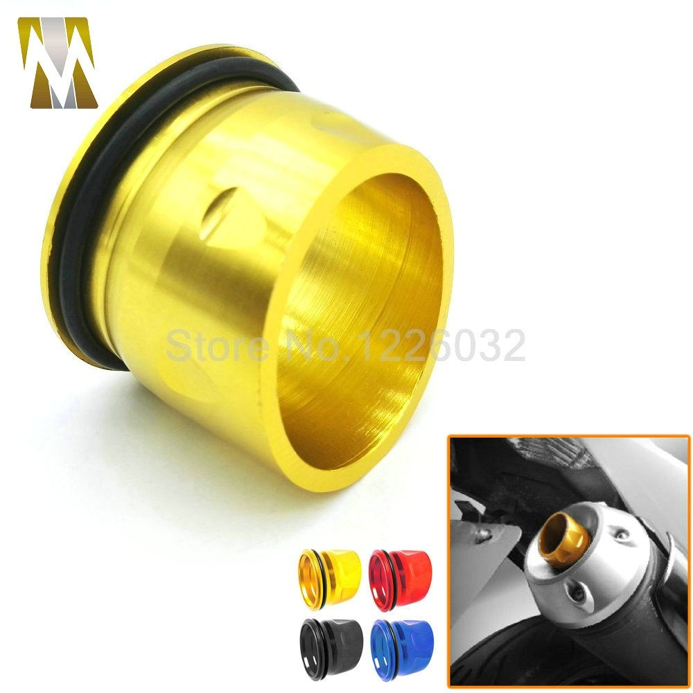 4 Colors Motorcycle CNC Aluminum Exhaust Tip Cover For Yamaha tmax 530 2012-2015