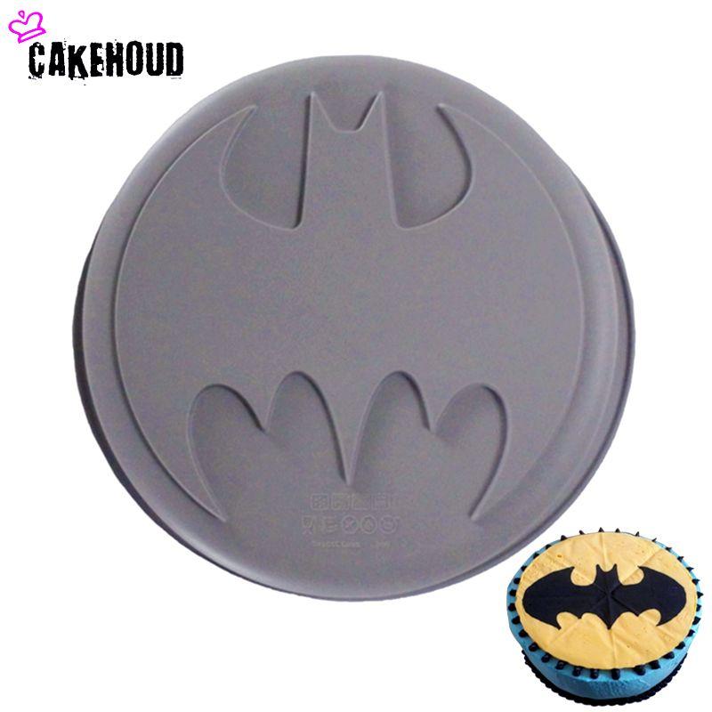 CAKEHOUD 1 Pc Silicone de qualité alimentaire bricolage Batman Logo Film thème les Avengers Super héros antiadhésif moule cuisson gâteau décoration outils