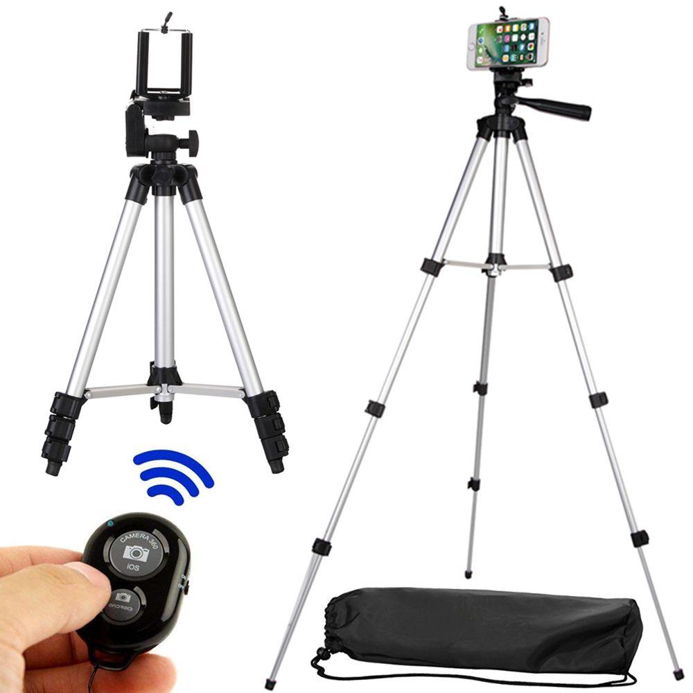 Long trépied Bluetooth Télécommande Retardateur Obturateur de Caméra clip de fixation Trépied Ensembles Kit Cadeau Pour support de téléphone