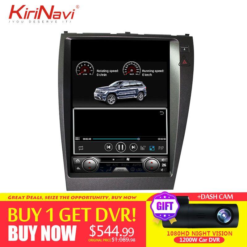 KiriNavi Vertikale Bildschirm Tesla Stil Android 7.1 12,1 zoll Auto Radio GPS Navigation Für Lexus es ES240 ES350 2006-2012