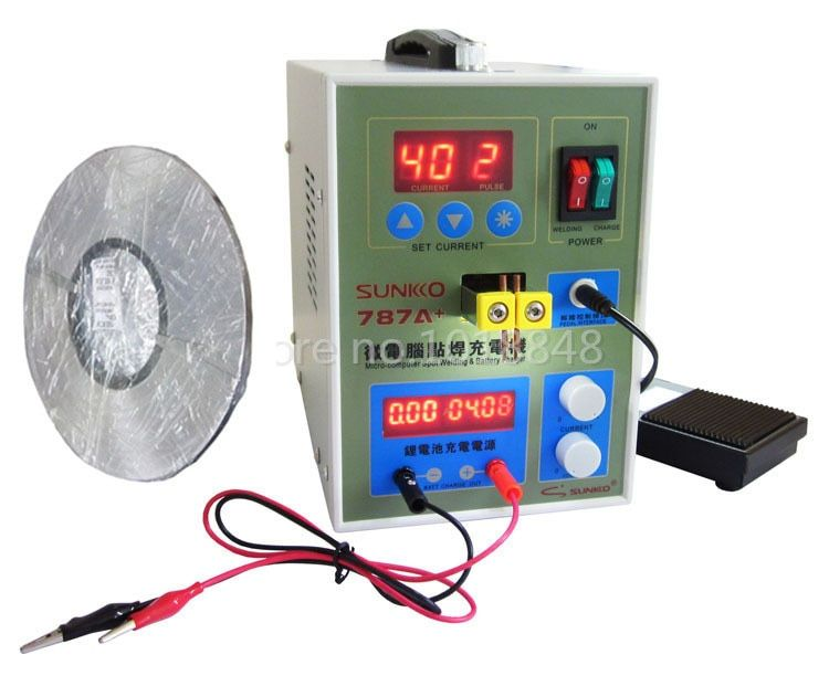 220v 787A Spot Welder Battery Welder For Notebook and Phone Battery Precision Welding +1kg0.1*4mm Nickel-plated steel band