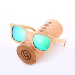 BARCUR Rétro Hommes lunettes de Soleil Polarisées Femmes lunettes de Soleil À La Main En Bambou Bois lunettes de Soleil Plage En Bois Lunettes Oculos de sol