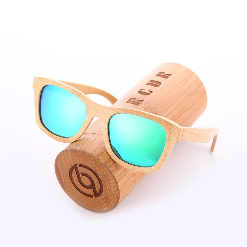 BARCUR Retro Men Sun glasses Women Polarized Sunglasses Bamboo Handmade Wood Sunglasses Beach Wooden Glasses Oculos de sol