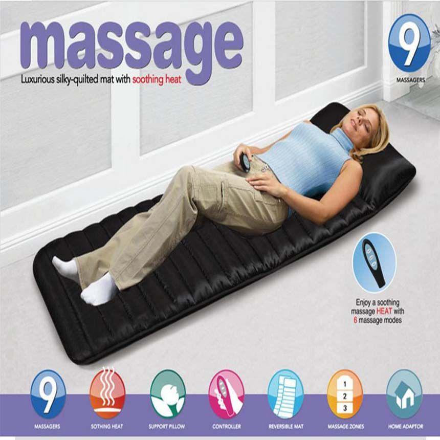 Ménage pliable Matelas De Massage Sommeil Beauté Spa Chauffage Vibrant Tête Cou Jambe Masseur Lit Coussin Tapis De Massage Thérapeutique