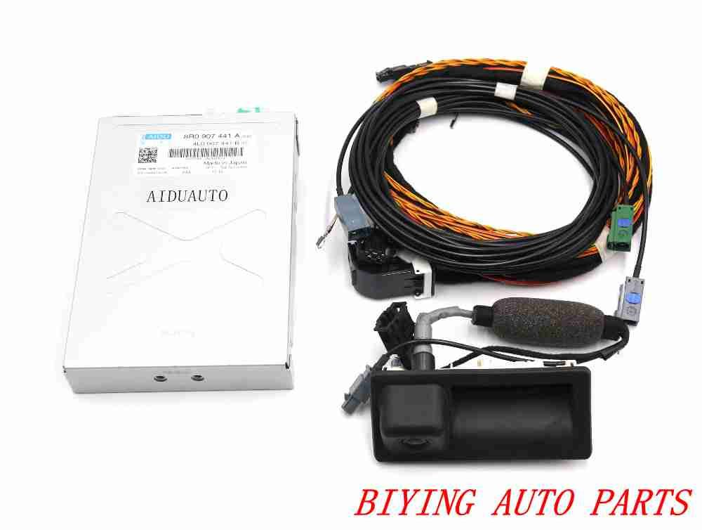 For Audi Q5 reversing camera RVC camera 8R0 907 441 A + 5N0 827 566 AA + cable Harness