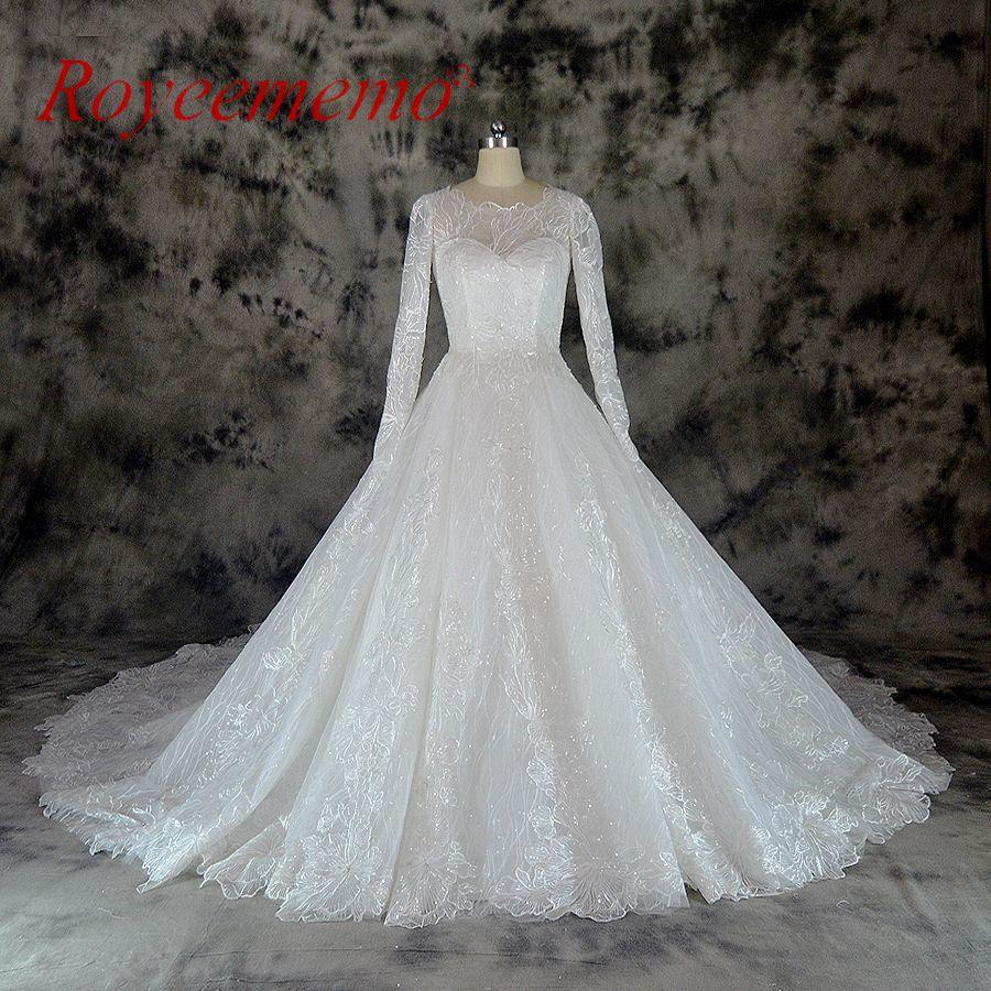 Vestido de Noiva long sleeve Ball Gown Vintage Robe De Mariage special lace design wedding dress factory made wedding gown