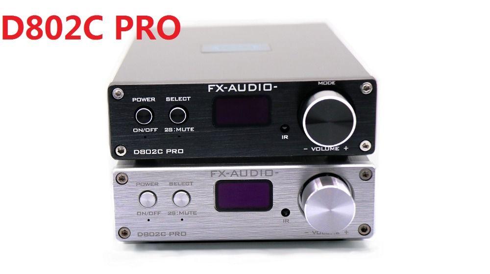 2018 FX-Audio New D802C PRO Bluetooth@4.2 APTX Full Digital Amplifier Input USB/AUX/Optical/Coaxial 24Bit/192KHz 80W*2 DC32V/5A