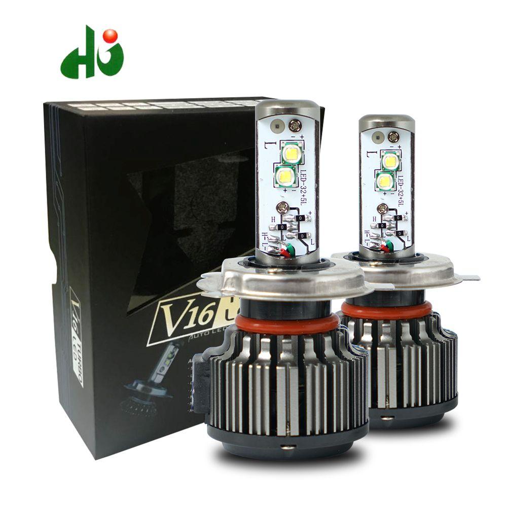 LOAUT V16 Turbo 40 w 80 w 4500lm H4 salut/lo H1 H3 H7 H10 H11 H13 9005 9006 9007 XHP50 Puces voiture led phare kit Livraison Gratuite