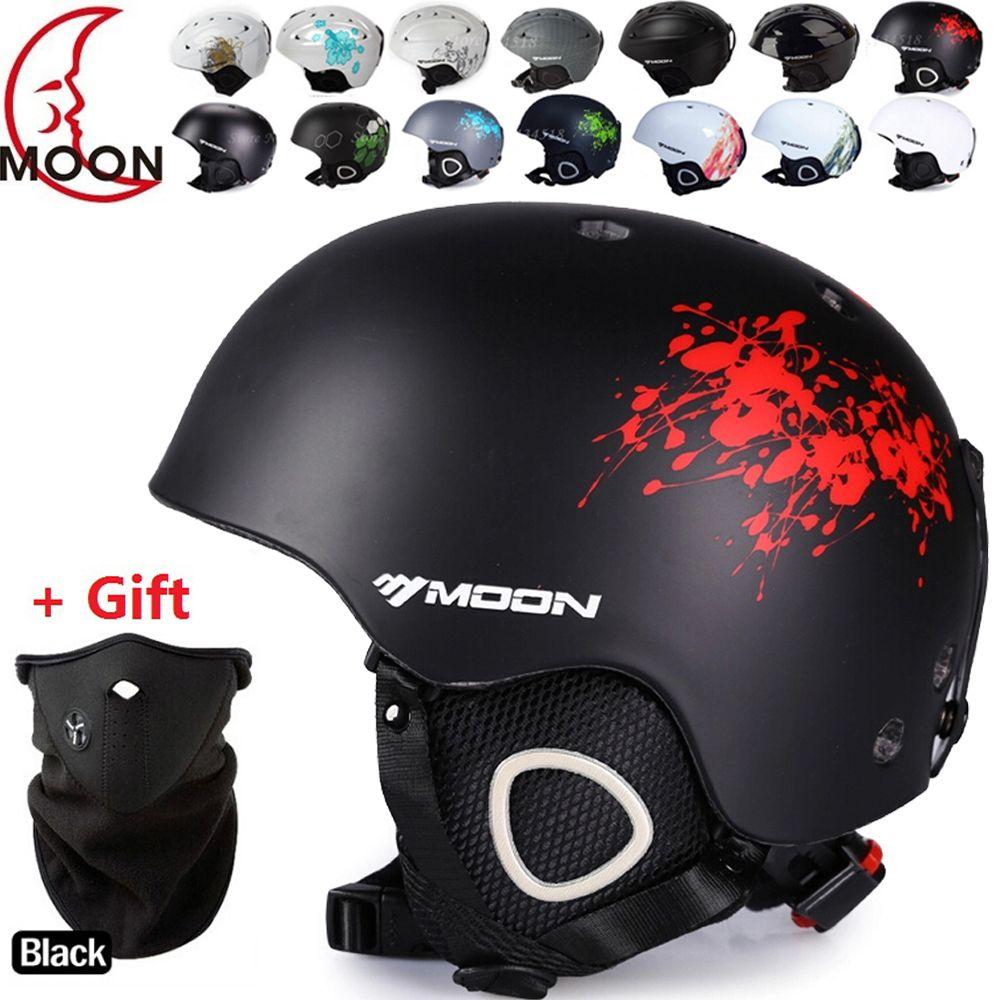 <font><b>MOON</b></font> Ski helmet Ultralight and Integrally-molded Breathable Snowboard helmet men women Snow Skateboard helmet Multi Color