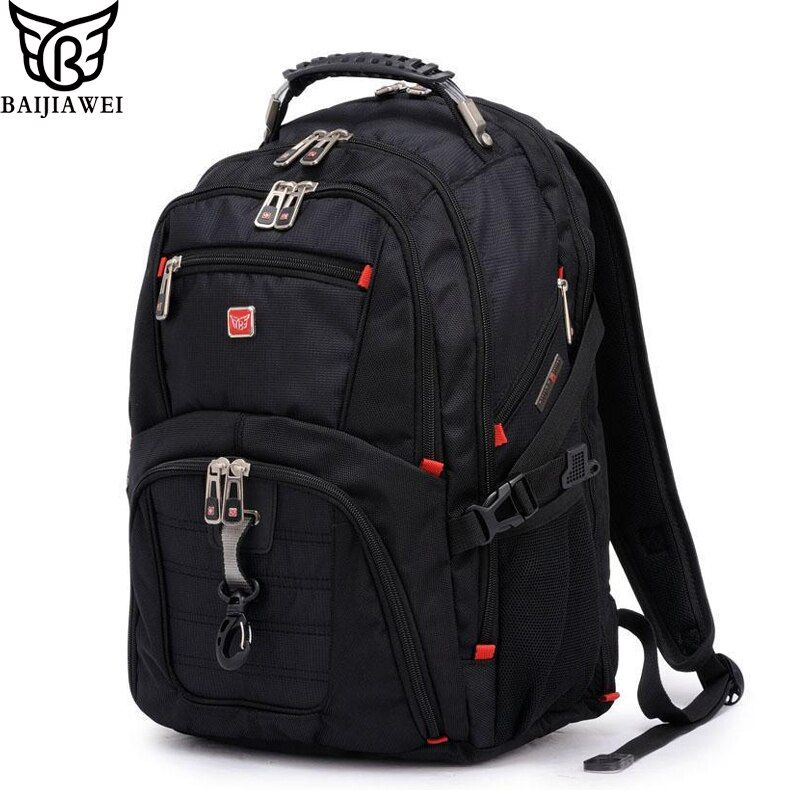 BAIJIAWEI hommes et femmes sac à dos pour ordinateur portable Mochila Masculina 15 pouces sacs à dos bagages et sacs de voyage pour hommes homme sac de grande capacité