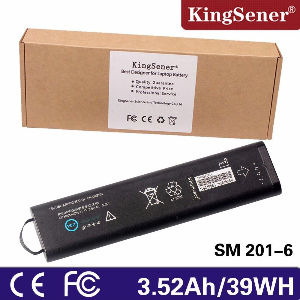 KingSener New SM201-6 Rechargeable Battery For GE DASH 3000 4000 5000 B20 B30 B40 B20I B30I B40I 11.1V 3.52Ah/39WH