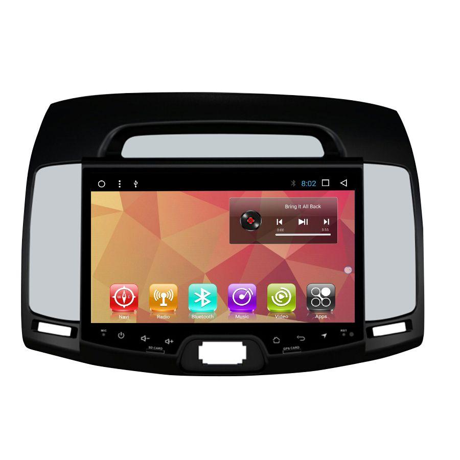 OTOJETA autoradio Android 7.1 2GB ram+32GB rom car dvd player for hyundai elantra 2007-2011 multimedia radio gps tape recorder
