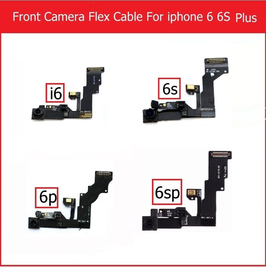 Genuine Small Facing Camera for iPhone 6 6s Plus Front Camera with Proximity Light Sensor & Microphone Flex Cable Replacement
